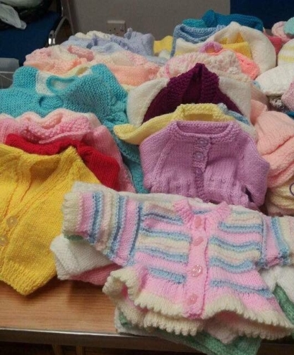 Some of the items produced for premature babies.